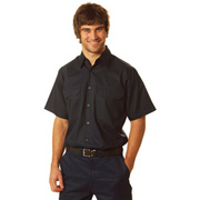 Cool Breeze Cotton Short Sleeve Work Shirt