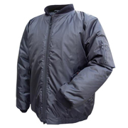 Waterproof Bomber Jacket Solid Colour with Padded Quilt Lining, Hip Length