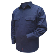 Solid Colour Cotton Drill Shirt, Long Sleeve