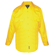 Solid High Vis Cotton Drill Shirt, Long Sleeve