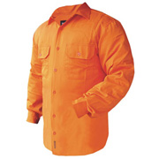 Solid Hi Vis Drill Shirt, Lightweight, Mesh Vents, Long Sleeve